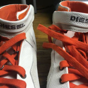 """Diesel Industry Fashion """"Route"""" White Shoes Sz 10"""